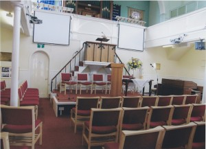 Main church interior. Please take a seat!